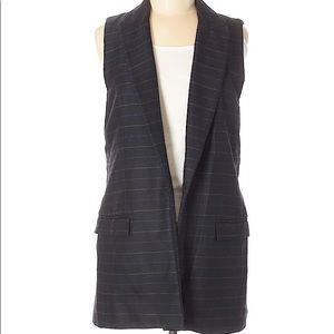 Zara Navy Pinstripe Blazer Vest Size Medium